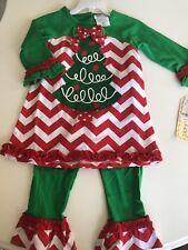 Nwt Rare Too Christmas Tree Leggings Shirt Holiday Set Sz 4t