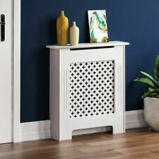 Oxford Radiator Cover Small Natural MDF Traditional White Grill Heat Guard