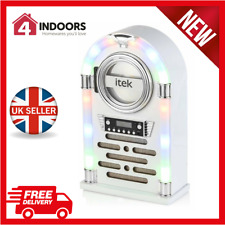 iTek I60018Cdgw Bluetooth Jukebox with Cd Player/Fm Radio R/C, Gloss White - New