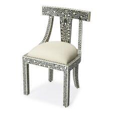 Butler Victorian Garden Black Bone Inlay Accent Chair, Black - 3557318