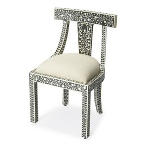 Butler Victorian Garden Black Bone Inlay Accent Chair, Black - 3557318