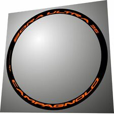 CAMPAGNOLO BORA ULTRA 35 3D ALL ORANGE 3D REPLACEMENT RIM DECAL SET FOR 2 RIMS