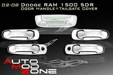 02-08 Dodge RAM 1500 Chrome 4 Door Handle Covers +Tailgate Cover w/ PSG Keyhole