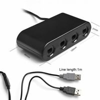 4-Port GC Gamecube Controller to USB Adapter Converter For Nintendo Wii U PC NGC