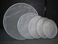 SET OF DUAL PLY MESH DRUM HEADS(12,13,14,16 and 22inch)