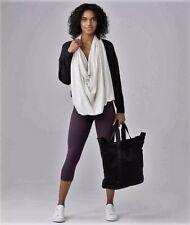 NEW Lululemon Sage Scarf Cotton HJUI Oatmeal Ivory Gray $88 Wrap Vinyasa NWT