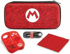 PDP Nintendo Switch Starter Kit Case, Grips, Charge Cable - Mario Remix Edition
