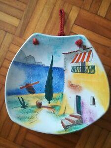 Keramik TELLER  HUBER ROETHE Keramische Werkstatt Achdorf Landshut 1950 er