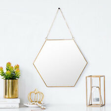 nordic wrought iron gold dessing mirror wall hanging bathroom wall mirror