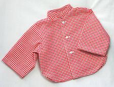 "Boneka camisa rojo blanco a cuadros 55 cm muñecas/red Tartan camisa 55 cm/21"" Dolls"