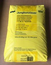 CITRIC ACID Food Grade 100% Pure JUNGBUNZLAUER  Fine Granular Anhydrous