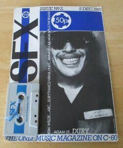 SFX cassette /mag no 2 , dec,  1981, kim wilde,abc,eurythmics,dury