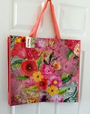 TJ Maxx Multi PINK FLORAL Flower Shopping Bag or REUSABLE Travel Tote Fun
