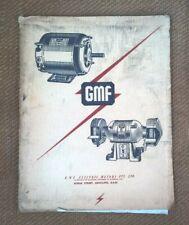 Vintage 1959 GMF Electric Motor & Bench Grinder Advertising Sales Catalogue