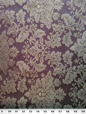 "Drapery Upholstery Fabric Tone on Tone Floral Damask 114"" W - Eggplant"