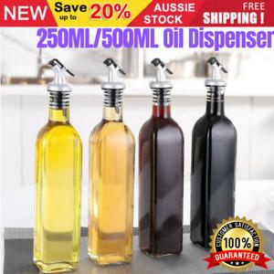 250/500ml Cooking Olive Oil Dispenser Glass Bottle Food-Grade Kitchen Tool SAFE