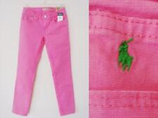 NWT Ralph Lauren Bowery Skinny Jean Girl 10 Pink pants green Polo Pony