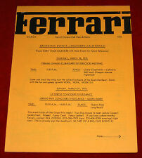 Ferrari Owners Club monthly Newsletter March 1976