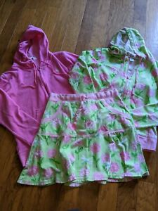 Lilly Pulitzer womens XS skirt hooded jacket set outfit