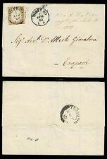 SP380 - 1862 - 10c Sas.14D su lettera da Palermo a Trapani con testo