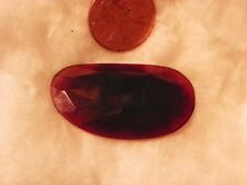 Hessonite Garnet 34.69 Carats 21.45x38.55x4.21 Checkerboard Silky Orange Brown