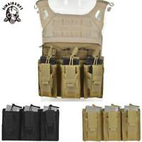 Tactical MOLLE Triple .223/5.56mm Open Top Mag Magazine Pouch Paintball Airsoft