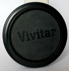 Vivitar 51mm push on soft plastic lens cap, for lenses with 49mm filter thread.