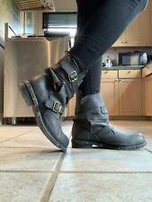43 Jeffrey Campbell Brit Man Boot Combat Biker Unisex Wrap Goth Punk Vintage