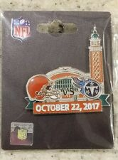 Tennessee Titans VS Cleveland Browns 10/22/17 GAME DAY PIN BRAND NEW NFL PIN
