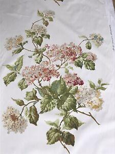 SCHUMACHER GREEF CURTAIN CUSHION FABRIC SUMMER HYDRANGEA Cotton 5m Pieces