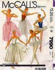 Vintage McCall'S  7990 BALLET*TUTU*DANCE WEAR Sewing Pattern B34