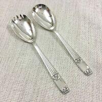ELKINGTON Cutlery WESTMINSTER Silver Plates Salad Serving Spoon Fork Set