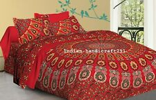 Bohemian Indian Mandala Bedding Quilt Duvet Cover Queen Size Comforter Set Decor