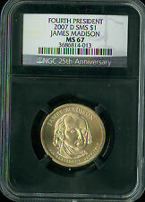 2007-D JAMES MADISON PRES. DOLLAR NGC MS-67 SMS RETRO HOLDER SPOTLESS