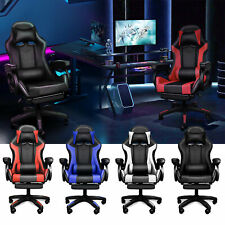 Chaise Gaming de Massage Inclinable Support Lombaire Gamer Chaise de Jeu Siège