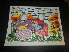 ORIGINAL LINA GADELHA ASHCROFT signed felt-tip colorful one-of-a-kind 15x20-in.
