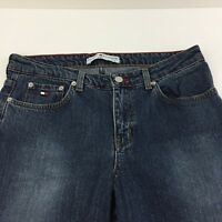 Tommy Hilfiger Womens Jeans Size 8X32 Lowrider Slim Fit Medium Wash 5 Pocket Zip