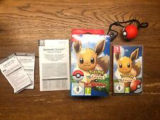 Pokemon Let's go Eevee! Evoli + pokeball plus Nintendo conmutador como nuevo coleccionista VG