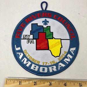 "Boy Scouts - 2014 Five Rivers Council Jamborama - 5"" round patch BSA NY PA"