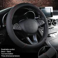 Auto Car Soft Lenkradhülle Lenkrad Abdeckung Lenkradbezug Mikrofaser Leder 38CM