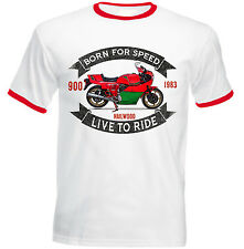 DUCATI 900 MIKE HAILWOOD - NEW COTTON TSHIRT - ALL SIZES IN STOCK