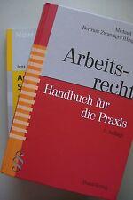 2 Bücher Arbeitsrecht Handbuch für die Praxis 2005 + Arbeits- Sozialrecht 2007