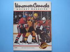 1982/83 VANCOUVER CANUCKS VS MONTREAL CANADIENS HOCKEY PROGRAM RICK WAMSLEY