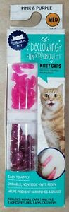 Whisker City Kitty Caps Nails Pink and Purple Sparkle Size Medium Cat 9-13 LBS
