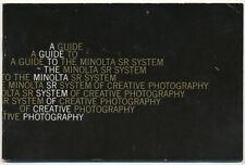 Minolta SR System guida in inglese E73