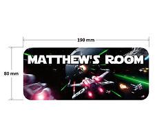 Star Wars Door Plaque - Personalised Childrens Bedroom Sign Boys Girls