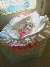 Cozy Doll Display Baskets Custom Damask Reborn Adora Turner Stoehr Rick Crib