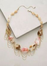 Anthropologie Women's Sybaris Bib Necklace Pendant Jewelry Rutilated Quartz