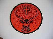 """Jagermeister Sticker 8"""" Rudi Sticker Orange/Black Jägermeister"""