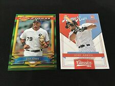 JOSE ABREU ROOKIE TOPPS FINEST & PANINI HR HEROES RC 2014 CHICAGO BASEBALL CARD